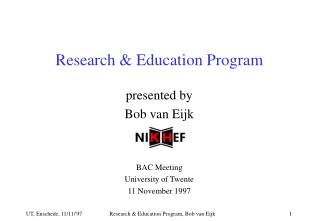 Research & Education Program