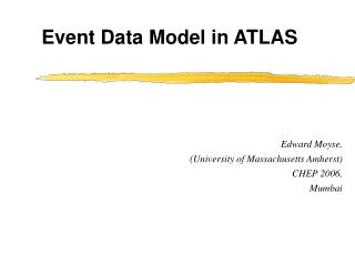 Event Data Model in ATLAS