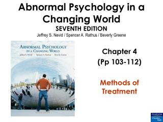 Chapter 4 (Pp 103-112) Methods of Treatment