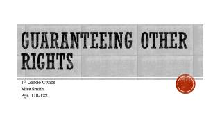 Guaranteeing Other Rights
