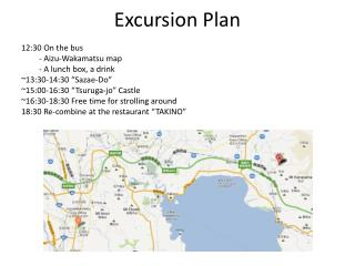 Excursion Plan