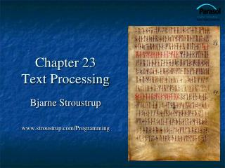 Chapter 23 Text Processing