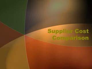Supplier Cost Comparison