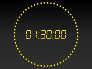 PowerPoint 2010 Digital Clock 90 mins