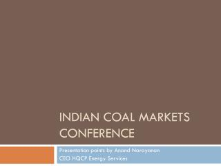Indian Coal Markets Conference