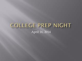 College Prep Night
