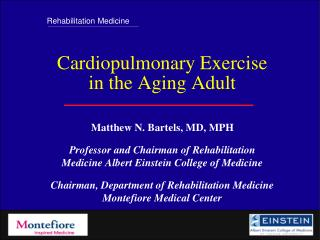 Cardiopulmonary Exercise in the Aging Adult