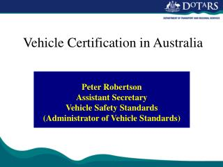 Vehicle Certification in Australia