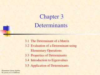 Chapter 3 Determinants