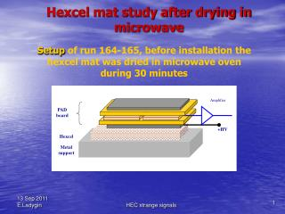 Hexcel mat study after drying in microwave