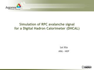 Simulation of RPC avalanche signal  for a Digital Hadron Calorimeter (DHCAL)
