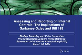 Assessing and Reporting on Internal Controls: The Implications of  Sarbanes-Oxley and Bill 198