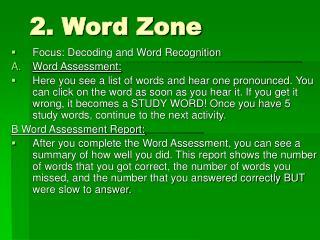 2. Word Zone