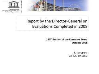 What is Evaluation in UNESCO?