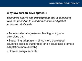 Why low carbon development?