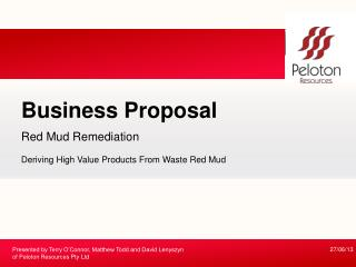 Red Mud Remediation Deriving High Value Products From Waste Red Mud
