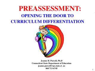 OPENING THE DOOR TO  CURRICULUM DIFFERENTIATION