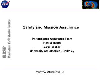 Safety and Mission Assurance