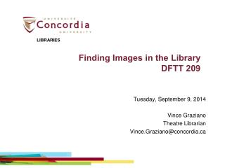 Finding Images in the Library DFTT 209