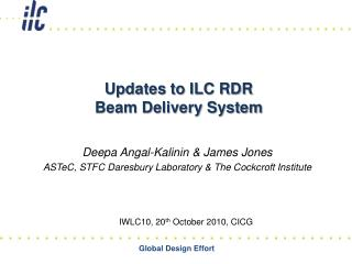 Updates to ILC RDR  Beam Delivery System