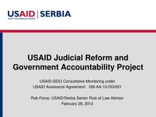 USAID Judicial Reform and Government Accountability Project