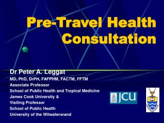 Pre-Travel Health Consultation