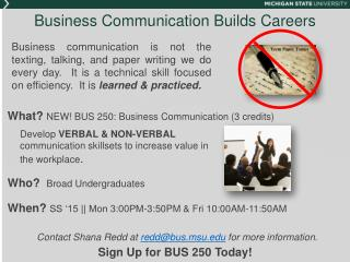 Business Communication Builds Careers