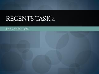 Regents Task 4
