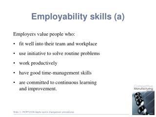 Employability skills (a)