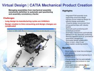 Virtual Design | CATIA Mechanical Product Creation
