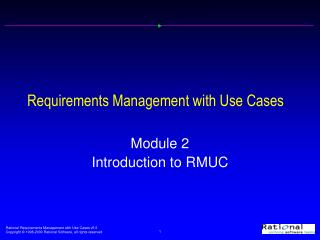 Requirements Management with Use Cases