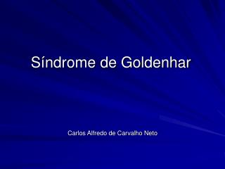 S ndrome de Goldenhar