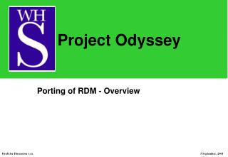 Porting of RDM - Overview