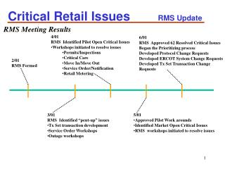 Critical Retail Issues         RMS Update