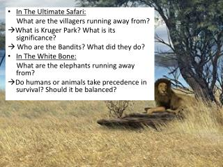In The Ultimate Safari:       What are the villagers running away from?