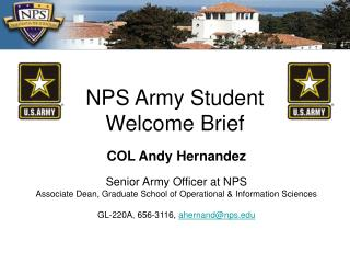 NPS Army Student Welcome Brief