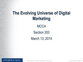 The Evolving Universe of Digital Marketing