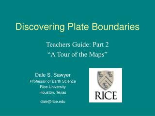 Discovering Plate Boundaries