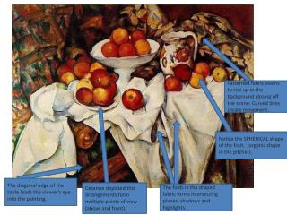 Cezanne depicted this arrangements form multiple points of view (above and front).
