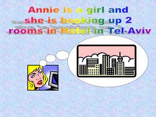 Annie is a girl and  she is booking up 2  rooms in Hotel in Tel-Aviv
