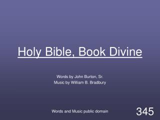 Holy Bible, Book Divine