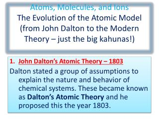 impacts of the modern atomic model essay Atomic theory and structure quiz dalton's atomic theory agrees with modern atomic theory except for the statement according to the bohr model of the atom.