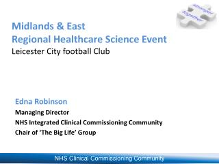 Midlands & East  Regional Healthcare Science Event Leicester City football Club