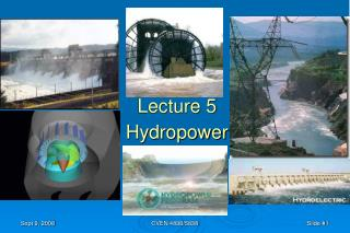 Lecture 5 Hydropower