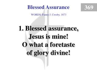 Blessed Assurance (1)