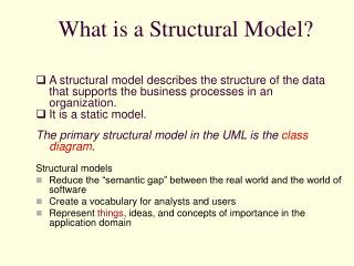 What is a Structural Model?