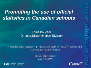 Promoting the use of official statistics in Canadian schools
