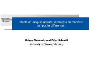Effects of unequal indicator intercepts on manifest composite differences
