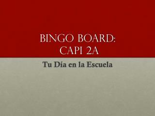 BINGO BOARD: CAPI 2A
