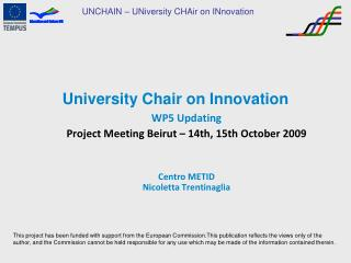 University Chair on Innovation